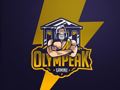 Olympeak gaming illustrator vector illustration logo mascot gaming esports