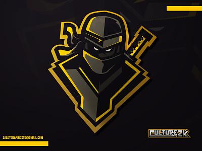 Ninja Mascot avatar youtube twitch game gaming club sport team mascot logo esports ninja