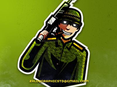 Soldier Mascot club team mascot game soldier sports esports logo gaming logo