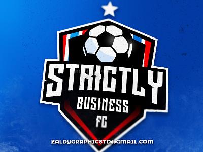 Strictly Football club! ball logo sports logo sports team club football