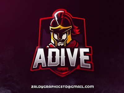Adive Esports Mascot Logo illustrator team knight warrior inspiration illustration logo gaming game sports mascot esports