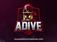 Adive Esports Mascot Logo