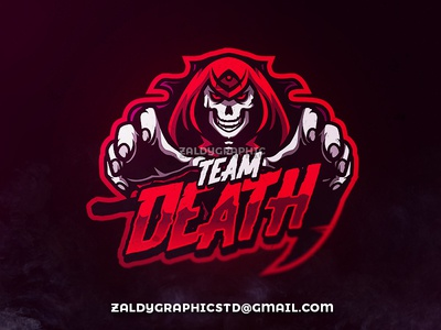 Team Death grimreaper illustrator illustration design graphic vector mascot sports team gaming game esports