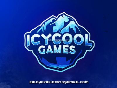 Icycool games logo ice cool illustration mascot logo gaming platform web games