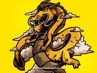 Golden Dragon - Mascot Logo
