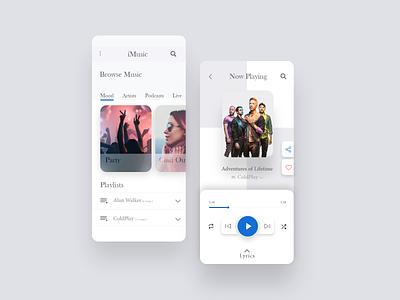 Music Player App Design music app daily ui dailyui 009 daily dailyui music player music player app ui ux design ui