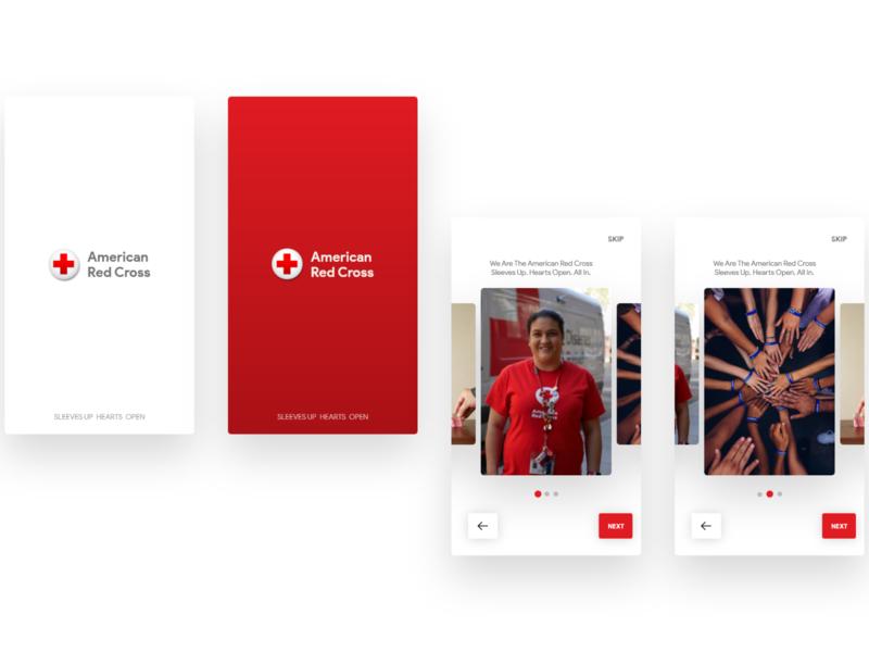 Red Cross App Redesign uxui ux ux designer uiuxdesign ux design cross red redesign redcross red cross uiux ui design ui design