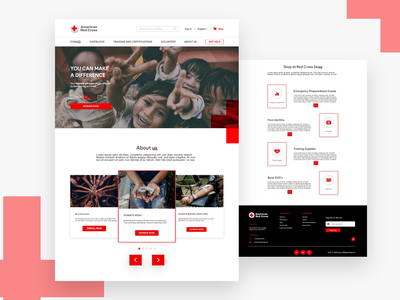 Redcross website redesign website design web design american redcross redesign redcross redesign redcross red cross uiux ui design ui