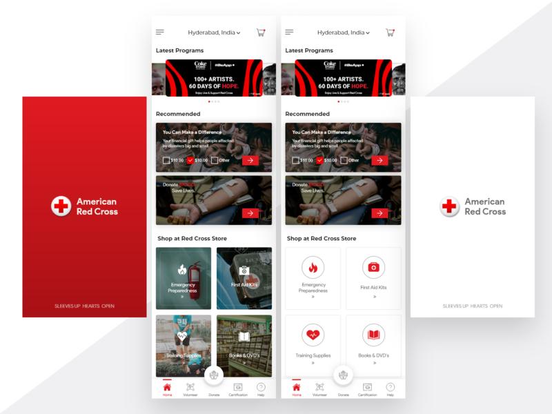 Red cross Mobile app mobile app mobile app design mobile app redesign red cross mobile redcross red cross uiux ui design ui design