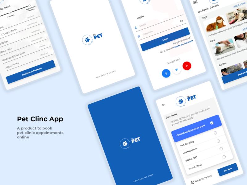 Pet Clinic App ux pets pet care oppoitment pet pet app pet clinic ux design uiux ui design ui