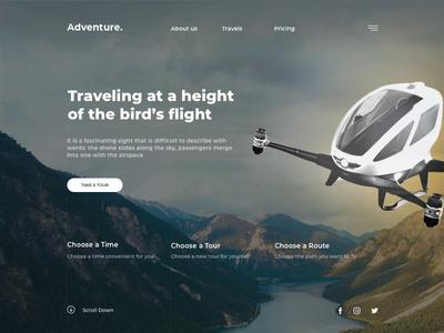 Quadrocopters Tourist Trips Service