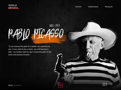 World art center web platform concept