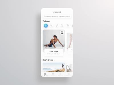 UI concept: fitness mobile app