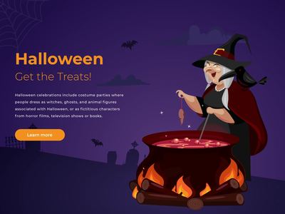 Happy Halloween! principle animation witch icon halloween character web design web ux uiux ui art vector illustration vector illustration art illustrations illustrator