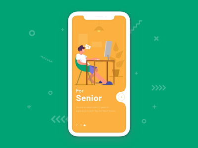 Find work | On-boarding app concept for job search app