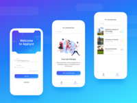 UI concept for college enrolment mobile app