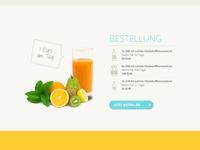Fruit juice - Order page