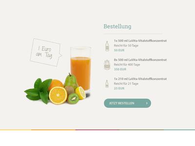 Fruit juice - Order page II