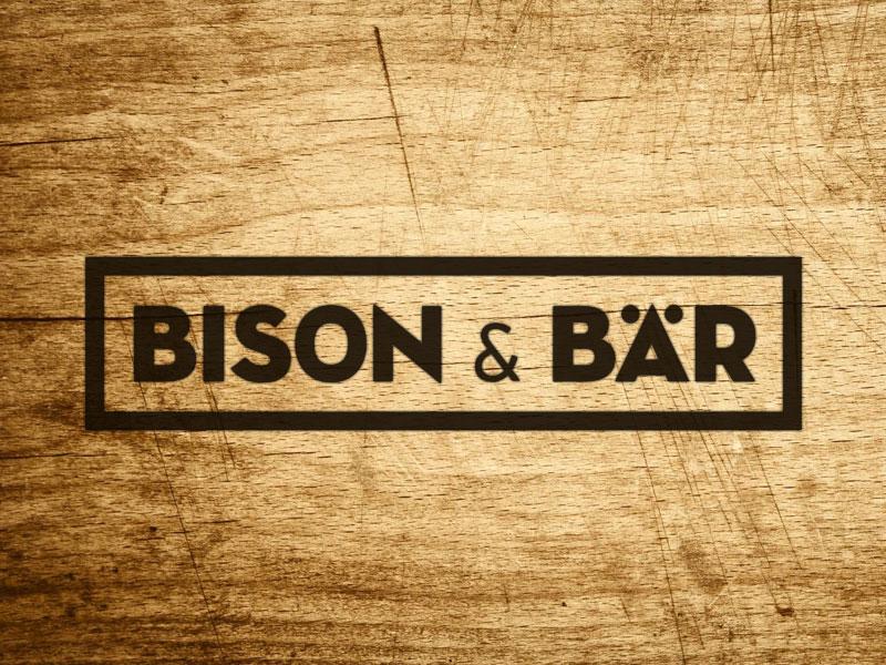 Bison & Bär / Logo bison bear bär wood logo signet