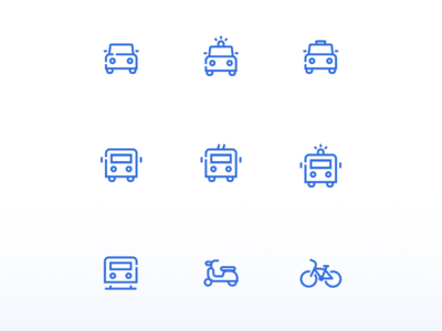 Mobility icons mobility branding icons