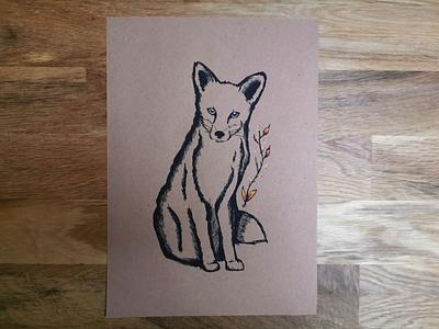 Illustrations - Forest series - Fox posca drawing fox illustration