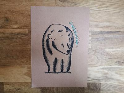 Illustrations - Forest series - Bear posca doodle bear drawing illustration