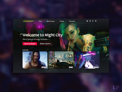Hover Interactions - Cyberpunk 2077 website interactions hover glitch cyberpunk 2077 cyberpunk ui design dark ui landing page