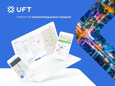 UFT - Platform for Demand Responsive Transport lyft uber mobility product design ux design ui design landing page