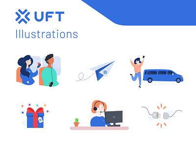 Illustration work for Mobility App drawing figma vector ui branding illustration