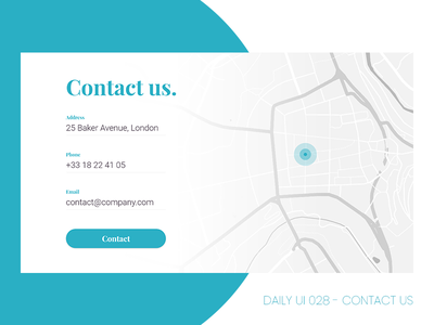 Daily UI #028 - Contact Us contact