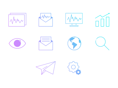 Icons - Monitoring app monitoring icons