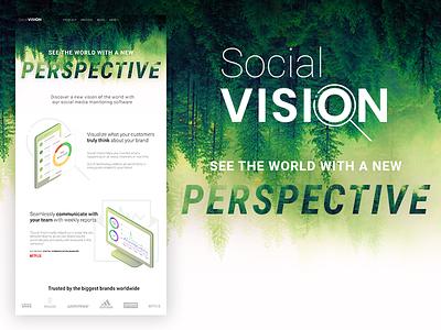 Social Vision Landing Page monitoring landing page