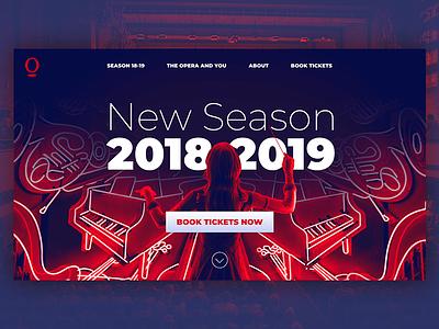 Opera Homepage opera house music opera design landing page ui