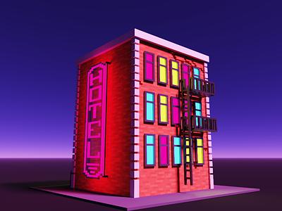 Voxel Building voxel art magicavoxel voxel illustration