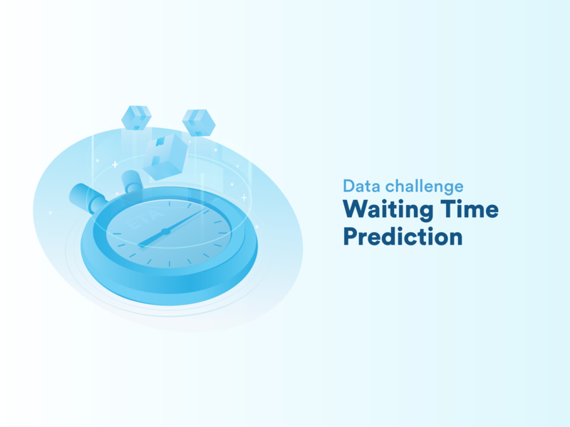 Data Challenge: Waiting Time Prediction delivery deliveries isometric isometry perspective illustration time management clock time machine time prediction