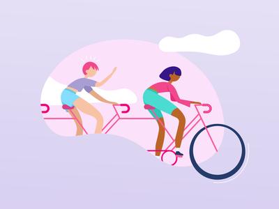 Teamwork, Tandem bike
