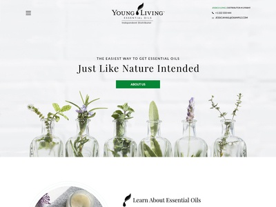 Homepage for Essential Oils