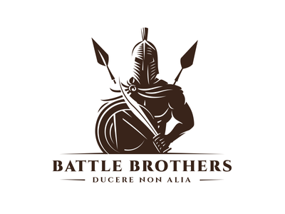 Battle Brothers lance spear mantle helmet courage sword strong naked spartan muscle force battle