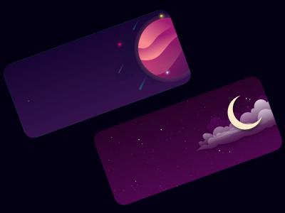 Sleep card carddesign vector illustration