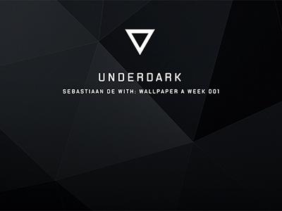 WPAW 1: Underdark wallpaperaweek wpaw dark angular polygon under black shiny matte