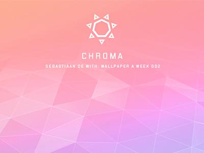 WPAW 2: Chroma wallpaperaweek wpaw dark angular shiny matte colorful rainbow polygon background wallpaper