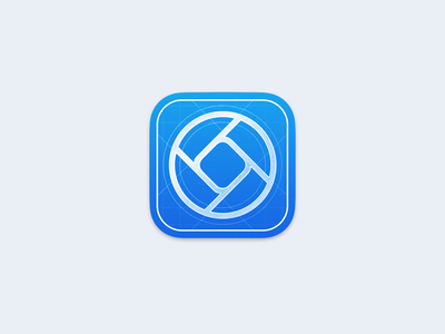 Halide - Beta icon design app iphone icons blue plan photography logo photography aperture camera halide ios app ios icon blueprint beta