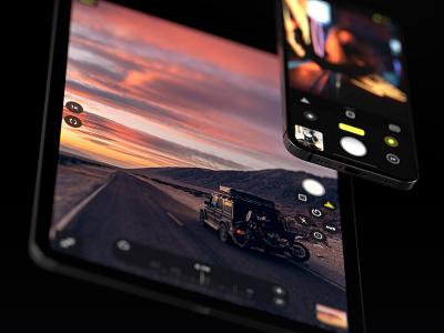 Halide —iPad and iPhone ios photography ipad pro ipadpro dark ux ui design uidesign ui camera app camera iphone app ipad app iphone ipad 3d