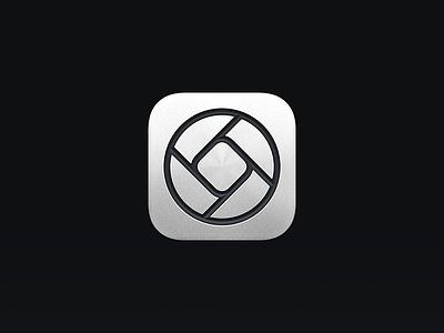 Halide Mark II-P - App Icon app icons icon iphone ios icon iphone icon metal pro halide app logo metallic fstop diaphragm diafragma apertures aperture camera app camera app icon