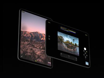 Halide for iPad — Pro View black iphone icons icon product app design ui design uidesign ui ipad pro ipadpro ipad apple app camera app camera pro
