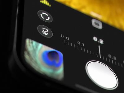 Halide 2.5 - Macro Mode on iPhone ui dark pro manual focus logo illustration design blue black app iphone camera icons icon