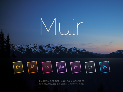 Muir: Creative Cloud icons yosemite osx adobe photoshop illustrator premiere bridge after effects lightroom icon icons