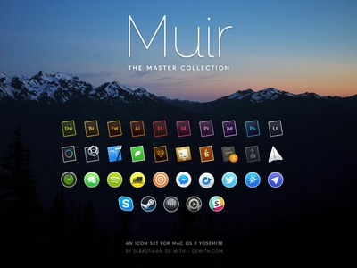 Muir: the Master Collection muir icons icon yosemite osx mac os replacement free
