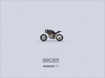Motomoji: Ducati Monster 750 (93-00) motorcycle ducati monster motomoji emoji icon motorbike
