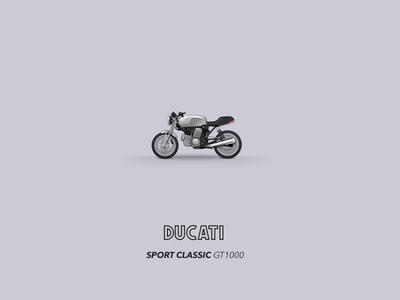 Motomoji: Ducati Sport Classic GT1000 (07-10) gt1000 sportclassic motorbike icon emoji motomoji monster ducati motorcycle